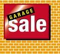 Signage garage sale Royalty Free Stock Photo