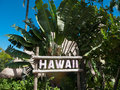 Signage of Hawaii Royalty Free Stock Photo