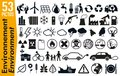 53 signage pictograms on the environment and ecology