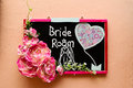 Signage with wording bride room Stock Photos