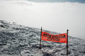 Signal of a closed ski slope in etna volcano Stock Images