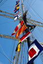 Tall Ship Signal Flags Royalty Free Stock Photo