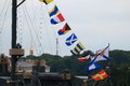 Signal flags Royalty Free Stock Photo