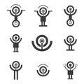 Signal icons.