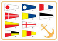 Signal nautical flags Stock Photos