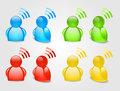 Signal RSS  Icon Royalty Free Stock Photo