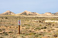 Signal saying Militar Area in Bardenas Reales Royalty Free Stock Photo