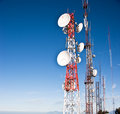 Signal station tower Stock Image