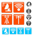 Signal Vector Icons Royalty Free Stock Photo