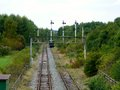 Signals on the track at rushcliffe country park Royalty Free Stock Photo