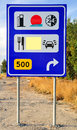 Signboard information at the roadside Stock Photography