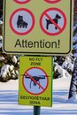 Signboard No fly zone. The sign prohibiting flights of drones Royalty Free Stock Photo