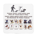 Signboard notice on walking dogs in public places Royalty Free Stock Photo