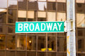 Signe de Broadway, New York Photos libres de droits