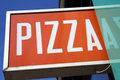 Signe de pizza Photographie stock