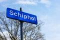 Signe de schiphol Images libres de droits