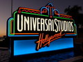 Signe de studios universels, Hollywood Photo libre de droits