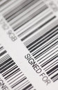 Signed for barcode used by post office tracking items send to be Stock Images