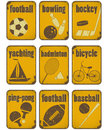 Signes de grunge de sport Photo stock