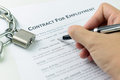 Signing employment contract Royalty Free Stock Photo