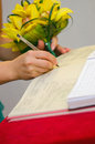 Signing the marriage documents Royalty Free Stock Images