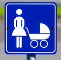 Signpost detail of a marking a parking area especially for women with babies Royalty Free Stock Image