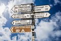 Signpost For Places In Cork Ir...