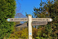 Signpost for south downs way Stock Images