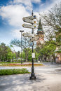 Signpost in the Subotica city, Serbia