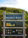 Signpost table mountain national park boulders beach cape town south africa Royalty Free Stock Photo