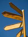 Signpost to the world Royalty Free Stock Photography