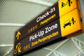 Signs at the airport Royalty Free Stock Photo