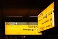 Signs at Airport Royalty Free Stock Photo