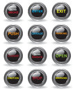 Signs buttons illustration Royalty Free Stock Photos