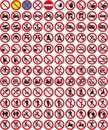 Signs collection 3 - No sign (+ vector) Royalty Free Stock Photo