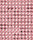 Signs collection 4 - No sign (+ vector) Royalty Free Stock Photo