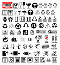 Signs collection 6 - Packing and shipping symbols Royalty Free Stock Photo