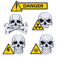 Signs of danger. Illustration on white background Royalty Free Stock Photo