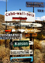 Signs in the Desert Royalty Free Stock Photo