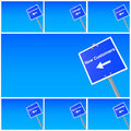 Signs and directions Royalty Free Stock Photo