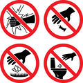 The signs do not break glass do not litter Royalty Free Stock Photos