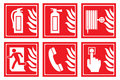 Signs for fire safety Royalty Free Stock Photo
