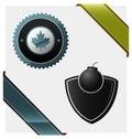 Signs, heraldic symbols, logos Royalty Free Stock Photo