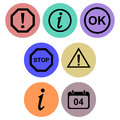 Signs icon designs a set of for graphic element use Royalty Free Stock Image
