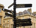 stock image of  Signs Pointing the Way in Bath England