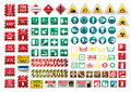Signs set Royalty Free Stock Photo