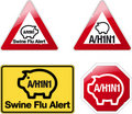 Signs swine flu alert Royalty Free Stock Photos