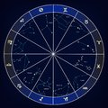 Signs of the zodiac constellation astrology horoscope. vector