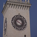 Signs of the zodiac sochi russia stunning clock tower atop railway station in site winter olympic games Stock Image