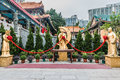 Sik sik yuen wong tai sin temple kowloon hong kong golden statues at in Royalty Free Stock Photos